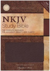 NKJV Study Bible- Large Print Edition, Burgundy Bonded Leather