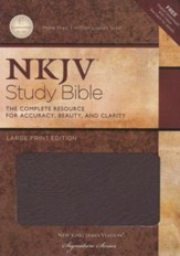 NKJV Study Bible- Large Print Edition, Burgundy Bonded  Leather Thumb-Indexed - Imperfectly Imprinted Bibles