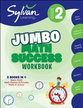 2nd Grade Jumbo Math Success  Workbook: Activities, Exercises, and Tips to Help Catch Up, Keep Up, and Get Ahead (Workbook)