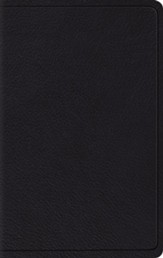 ESV Wide-Margin Reference Bible--top grain leather, black - Imperfectly Imprinted Bibles
