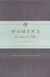 ESV Women's Devotional Bible, TruTone, Burgundy with Birch Design