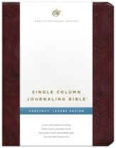 ESV Single Column Journaling Bible Brown