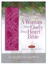 A Woman After God's Own Heart Bible, NKJV Deep Rose Hardcover