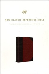 ESV Reference Bible--soft leather-look, brown/cordovan, portfolio design