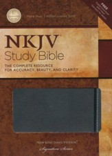 NKJV Study Bible, Second Edition, Leathersoft, charcoal
