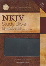 NKJV Study Bible, Second Edition, Leathersoft, charcoal indexed
