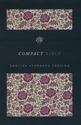 ESV Compact Bible, Cloth Over board, Roses