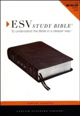 ESV Study Bible, CBD Exclusive Edition; Burgundy Cowhide Leather