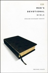 ESV Men's Devotional Bible--soft  leather-look, black