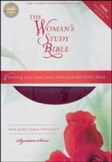 NKJV The Woman's Study Bible, Leathersoft, plum - Slightly Imperfect