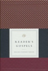 ESV Reader's Gospels--top grain leather, black over board