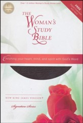 NKJV The Woman's Study Bible, Bonded leather, burgundy