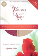 NKJV The Woman's Study Bible, Leathersoft, light cran and tuscany indexed - Slightly Imperfect