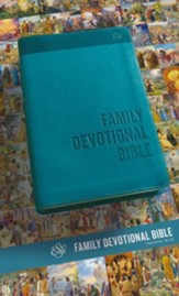 ESV Family Devotional Bible (TruTone, Blue), Leather, imitation, Blue