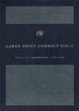 ESV Large Print Compact Bible (Cloth over Board, Royal Imprint), Grey