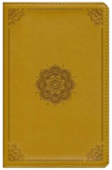 ESV Compact Outreach Bible, Premium Edition (TruTone, Goldenrod, Emblem Design), Leather, imitation, Gold