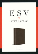ESV Study Bible, Personal Size, Imitation Leather,  Dark Olive Green