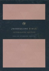 ESV Journaling Bible, Interleaved Edition (Cloth over Board, Turquoise/Coral), Multicolor - Slightly Imperfect