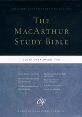 ESV MacArthur Study Bible (Cloth over Board, Tan), Tan/Light brown