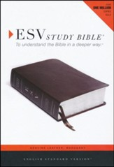 ESV Study Bible, Mahogany Brown Genuine Leather with Thumb Index - Slightly Imperfect