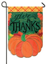 Give Thanks Pumpkin Flag, Small