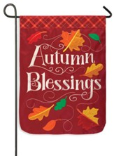 Autumn Blessings Applique Flag, Small