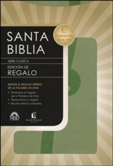 Biblia de Regalos NBD, Piel Italiana Verde  (NBD Gift Bible, Imitation Leather, Green)