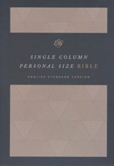ESV Single Column Personal Size Bible (Cloth Over Board, Timeless)
