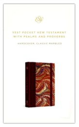 ESV Vest Pocket New Testament with Psalms and Proverbs (Classic Marbled) Hardcover