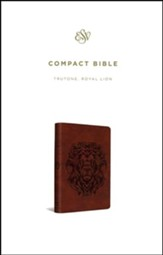 ESV Compact Bible (TruTone, Royal Lion) Imitation Leather - Imperfectly Imprinted Bibles