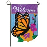 Welcome Butterfly, Garden Flag, Small