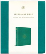 ESV 2-Column Journaling Bible, TruTone Teal, Imitation Leather