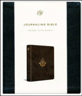 ESV Journaling Bible (TruTone, Olive, Branch Design), soft imitation leather - Slightly Imperfect
