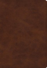 ESV Giant Print Bible (TruTone, Deep Brown), soft imitation leather