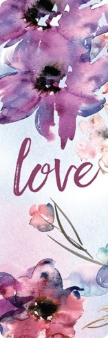 Love - Designer Fabric Bookmark