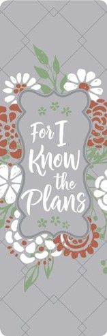 For I Know the Plans - Faux Leather Bookmark