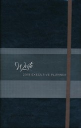 2019 Write Executive Planner - 16-Month Weekly Planner, Onyx