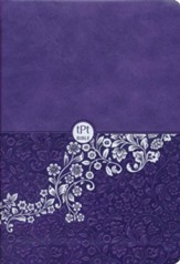 The Passion Translation (TPT): New Testament with Psalms, Proverbs, and Song of Songs, compact, imitation leather, purple