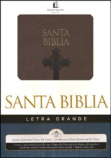 Reina Valera 1960 Biblia Letra Grande, Leathersoft, brown