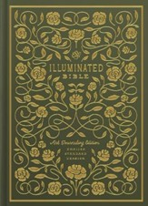 ESV Illuminated Bible, Art Journaling Edition, Green Hardcover