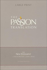 The Passion Translation (TPT): New Testament with Psalms, Proverbs, and Song of Songs - 2nd edition, large print, imitation leather, violet - Imperfectly Imprinted Bibles