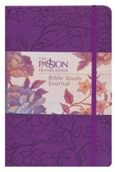 The Passion Translation (TPT): Bible Study Journal - faux peony