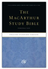 ESV MacArthur Study Bible, Personal Size Softcover - Slightly Imperfect