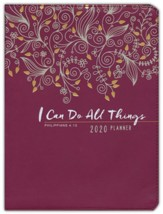 2020 I Can Do All Things Planner with Zipper - 16-month Week ly Planner