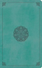 ESV Thinline Bible (TruTone Imitation Leather, Turquoise with Emblem Design) - Slightly Imperfect