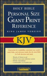 KJV Reference Bible, Personal-Sized, Giant Print -  Imitation Leather, Burgundy