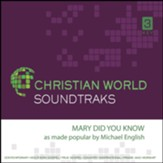 Mary Did You Know Accompaniment CD