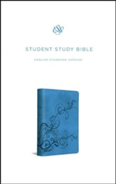 ESV Student Study Bible, TruTone,  Sky Blue with Ivy Design
