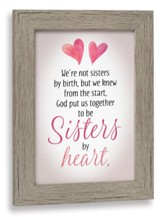 Sisters By Heart Framed Art