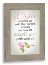 A Sister is Someone Who Understands Your Past Framed Art